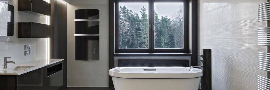 Infrarotheizung im Bad und Gäste-WC