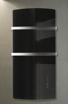 Infrarotheizung Deva von Radialight mit schwarzer Glasfront