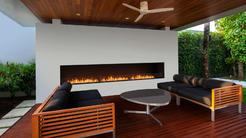 Ethanol Kamin Flex zum Einbauen für die Terrasse