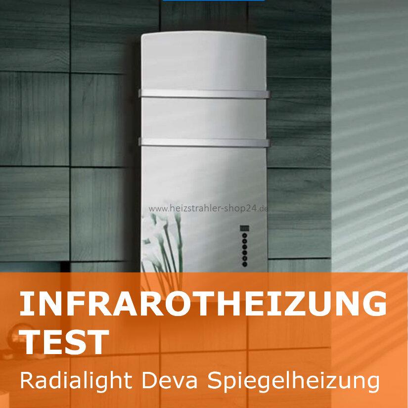Test Infrarotheizung Deva Spiegelheizung Von Radialight