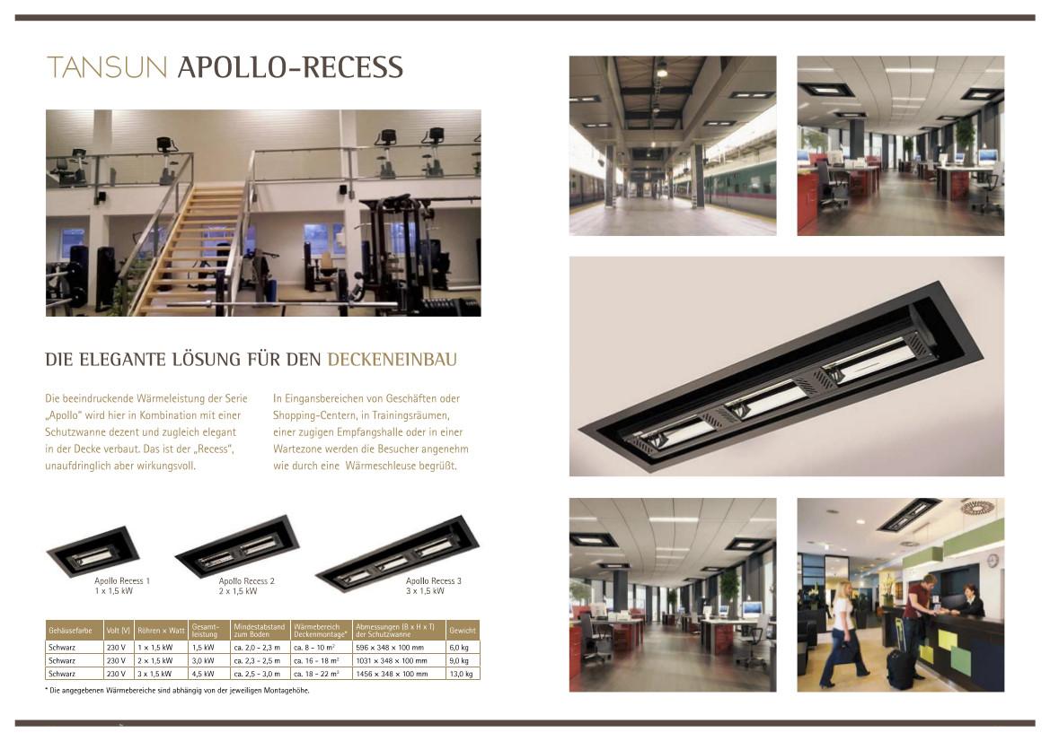 Tansun Apollo-Recess für Deckeneinbau