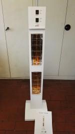 Heizstrahler Test : Die Verpackung des Powerheizstrahler Burda Smart Tower