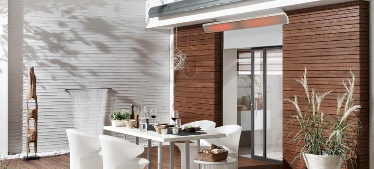 heatscope vision heizstrahler auf einer terra angenehme temperaturen auch am abend. Black Bedroom Furniture Sets. Home Design Ideas